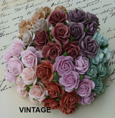 Wild Orchid Crafts Mixed Open Roses- Vintage