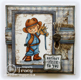 Vilda Stamps Cowboy and Boy