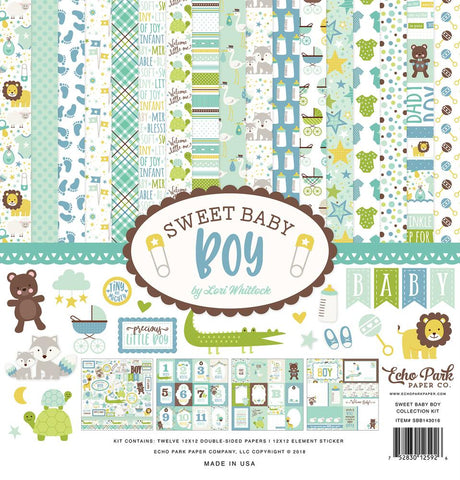 Echo Park Sweet baby Boy-12x12 Collection Kit