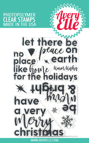 Avery Elle - Clear Stamps, Corner Sentiments Holiday