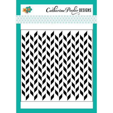 Catherine Pooler Stencil-Split Chevron