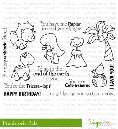 Sugar Pea Designs Clear Stamp-Prehistoric Pals