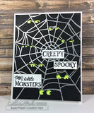 Catherine Pooler Background Stamp - Spider Web