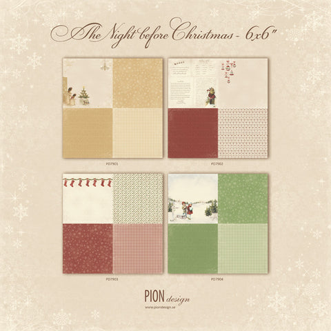 Pion Design The Night Before Christmas 6x6 Papers - 7 Kids Your Crafting Supply Store