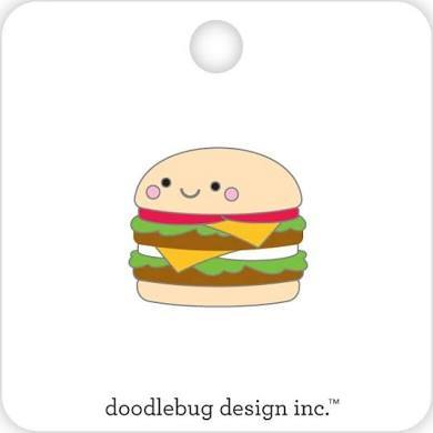 Doodlebug Designs Collectible Enamel Pin- Cheeseburger