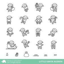 Mama Elephant - Little Santa Agenda, Clear Stamps