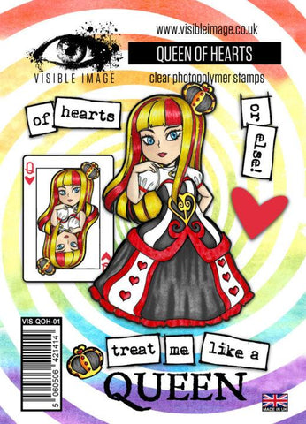 Visible Image - The Queen of Hearts Stamp