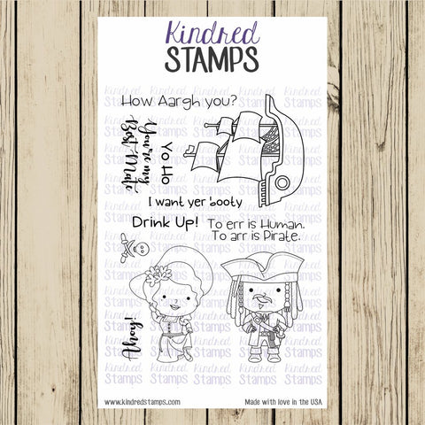 Kindred Stamps - Yo Ho, Clear Stamp Set