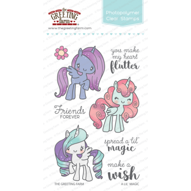 The greeting farm clear stamp set a lil magic m4hsunfo