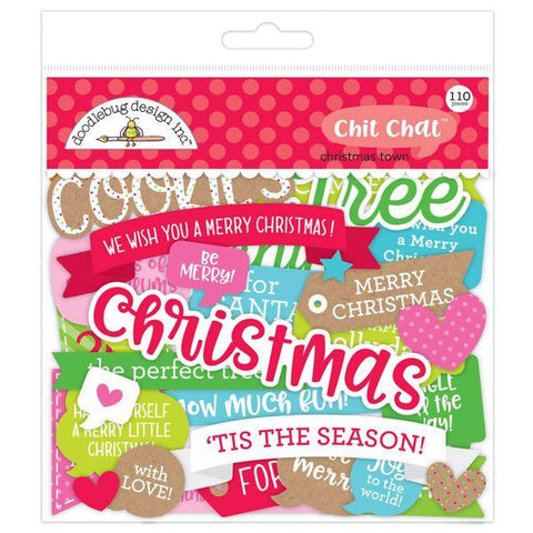 Doodlebug Design - Christmas Town, Chit Chat Die Cuts