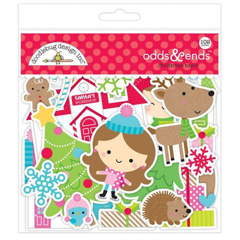 Doodlebug Design - Christmas Town, Odds & Ends Die Cuts