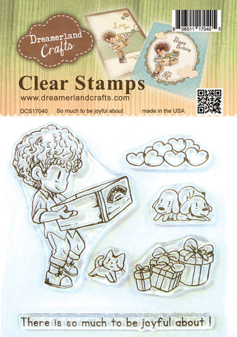 Dreamerland Crafts Stamp & Die Set-So Much to Be Joyful About