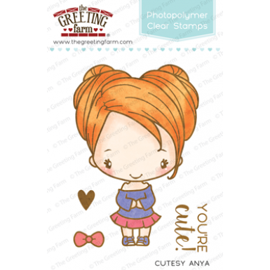 The Greeting Farm Clear Stamp Set-Cutesy Anya
