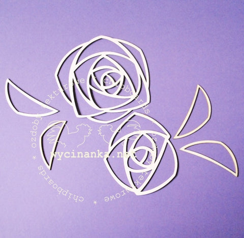 Wycinanka Openwork Roses Large - 7 Kids Your Crafting Supply Store
