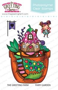The Greeting Farm Clear Stamp Set-Fairy Garden