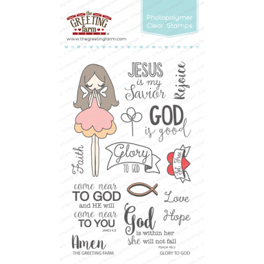 The greeting farm clear stamp set glory to god m4hsunfo