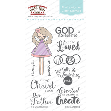 The Greeting Farm Clear Stamp Set-God Is Awesome