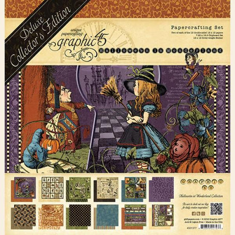 Graphic 45-Deluxe Collector's Addition, Hallowe'en in Wonderland