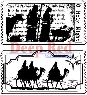 Deep Red - Tickets to Nativity, Cling Stamp