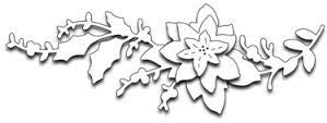 Penny Black Poinsettia Bough (Metal Die) - 7 Kids Your Crafting Supply Store