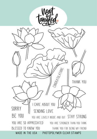 Neat & Tangled - Clear Stamp Set, Lovely Lotus