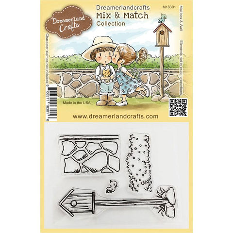 Dreamerland Crafts - Mix and Match Clear Stamp, Mail box & Wall