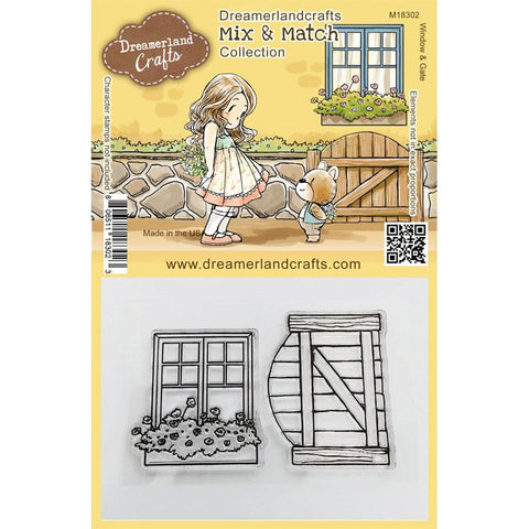 Dreamerland Crafts - Mix and Match Clear Stamps, Window & Gate