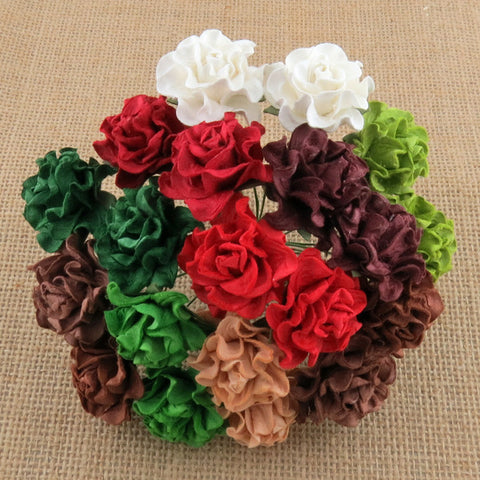 Pre Order Wild Orchid Mixed Christmas/Seasonal Tuscany Roses 30mm - 7 Kids Your Crafting Supply Store