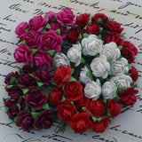 Pre Order Wild Orchid Mixed Colored Mulberry Paper Open Roses 15mm - 7 Kids Your Crafting Supply Store