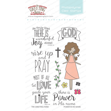 The Greeting Farm Clear Stamp Set-Power In His Name