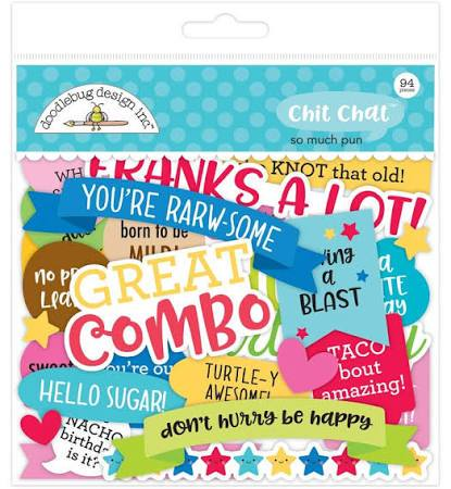 Doodlebug Design - So Much Pun, Chit Chat Die Cuts