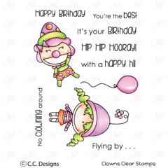 C.C. Designs - Clowns, Clear Stamp Set