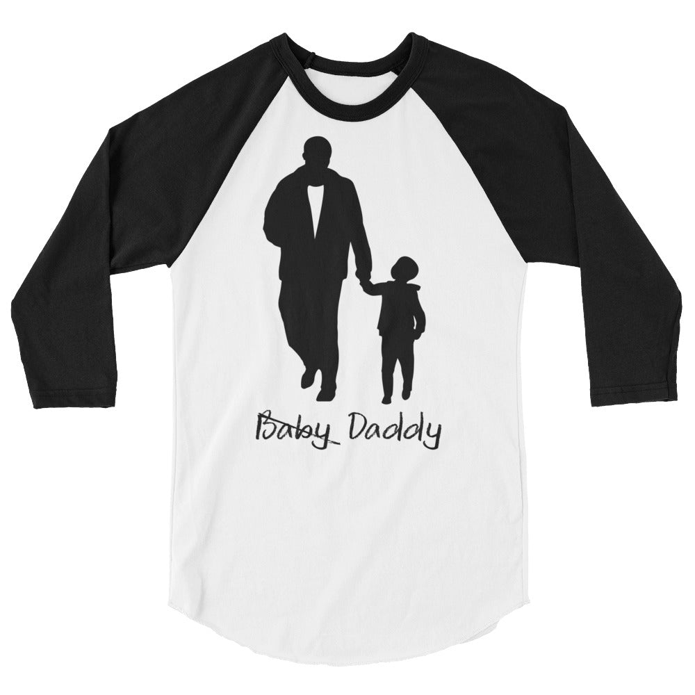 Baby Daddy Black Raglan