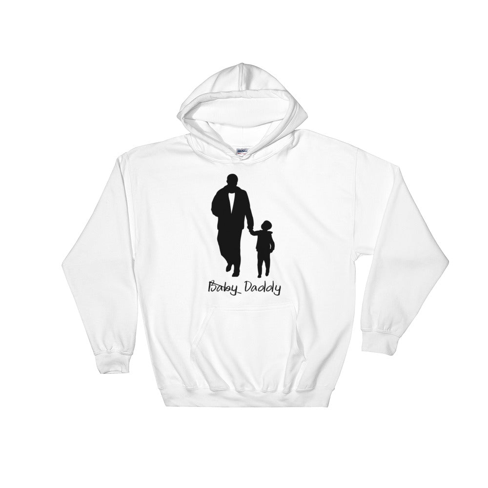 Baby Daddy White Hoodie