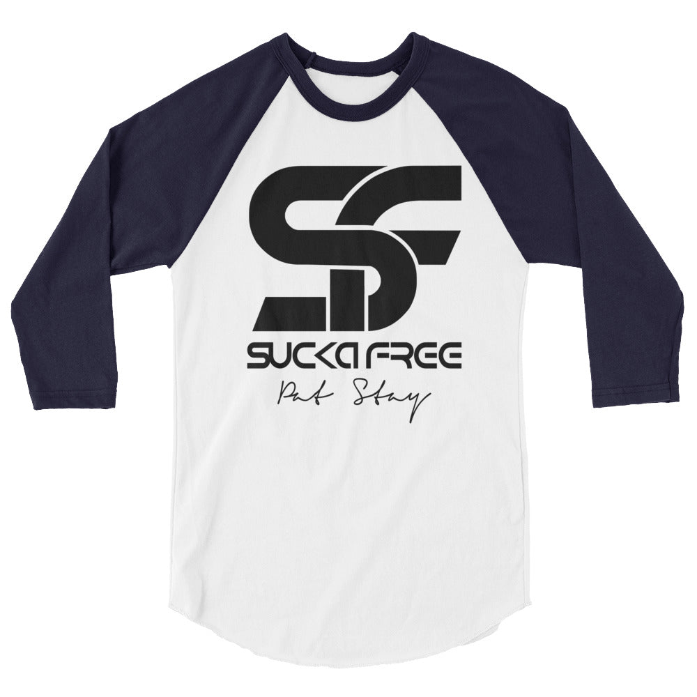 Sucka Free Blue Raglan