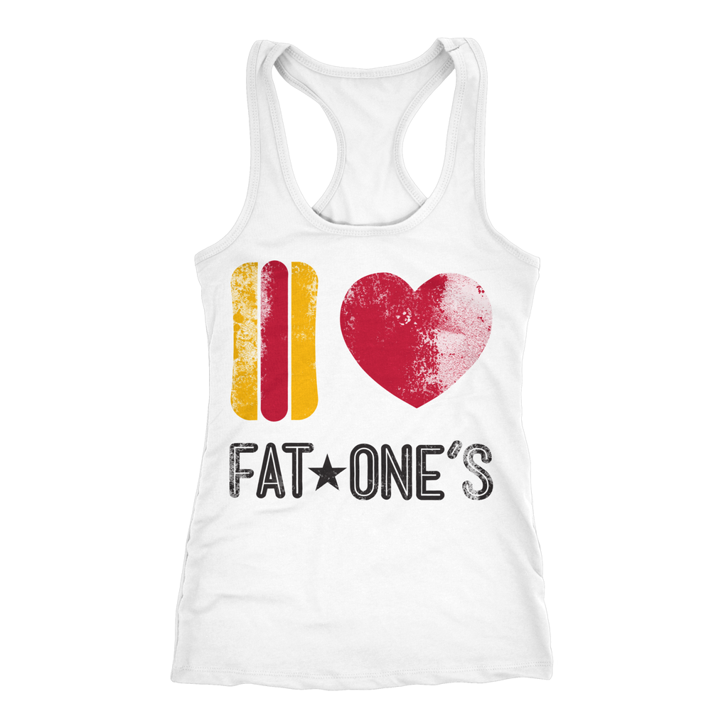 I ❤️  Fat★One's Racerback Tank