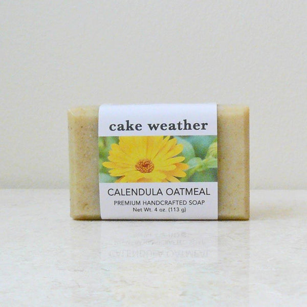 Calendula Oatmeal Gentle Natural Soap Cake Weather