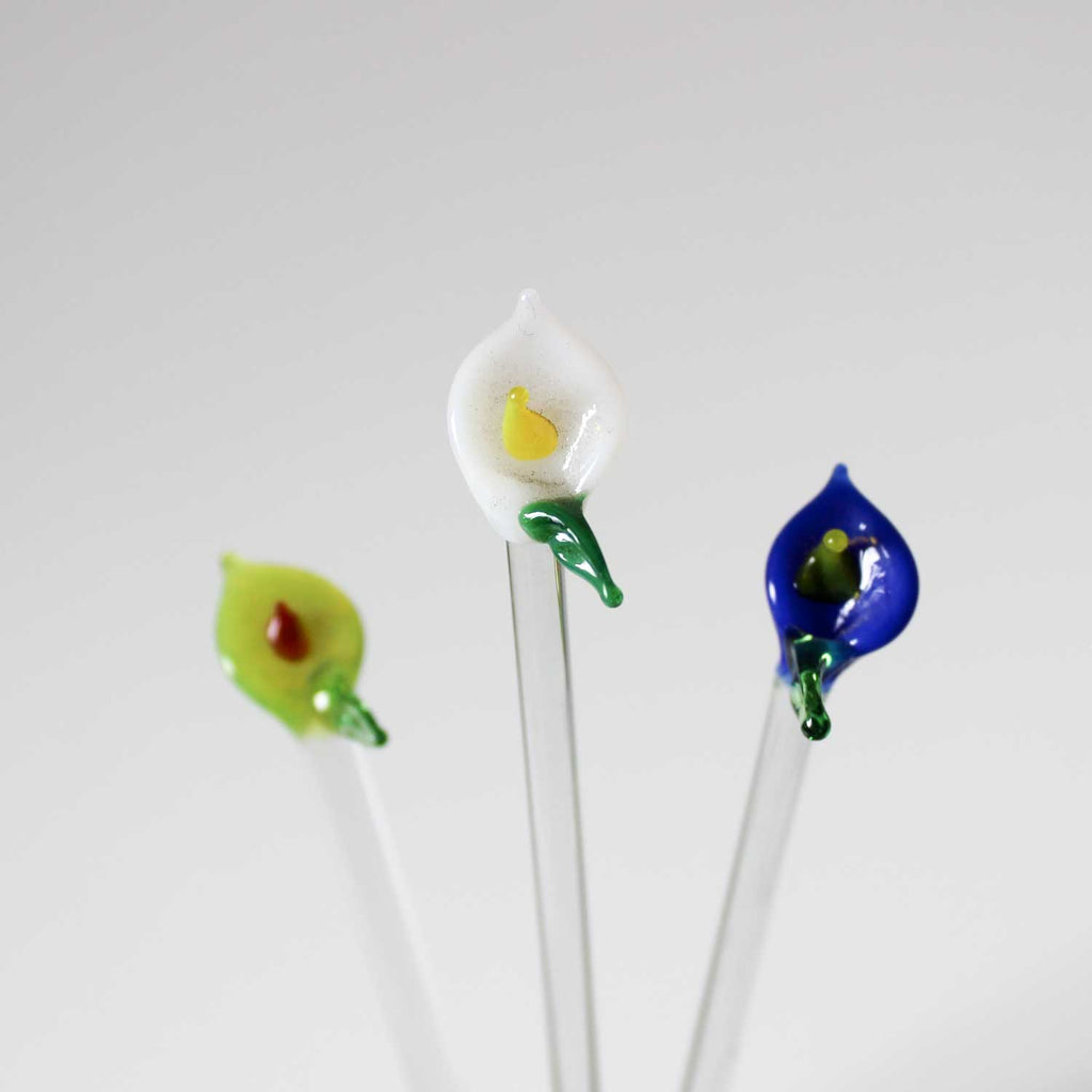 GLASS SWIZZLE STICKS - Ecofriendly Mini Stirring Rods - Set of 3