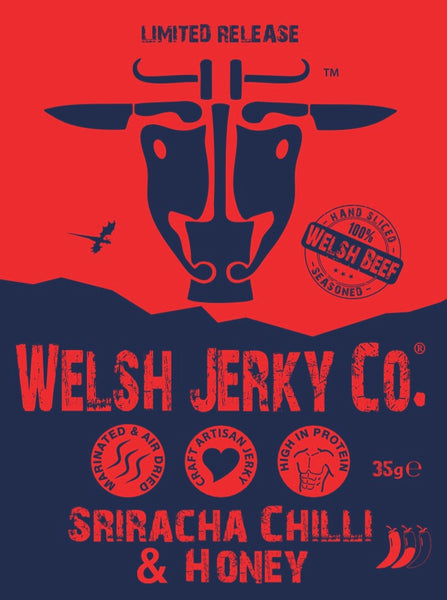 Welsh Beef Jerky - Sriracha chilli & honey flavour