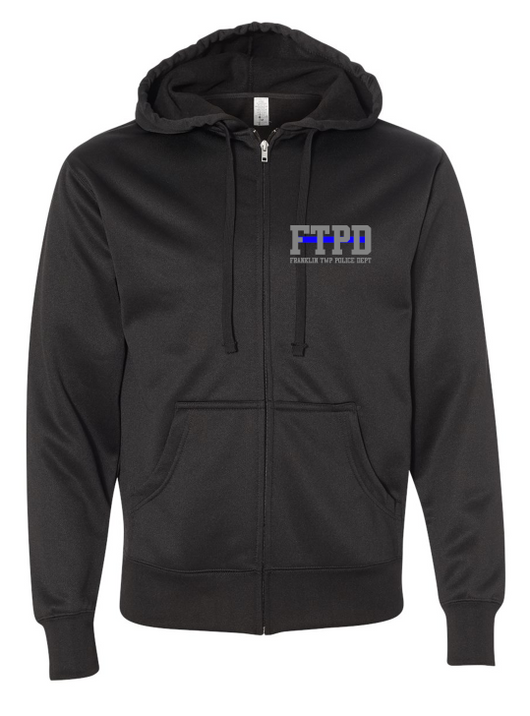 Poly-Tech Embroidered Hooded Full-Zip Sweatshirt