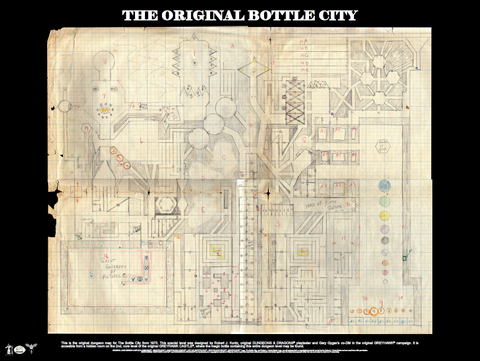 The Original Bottle City Map Poster