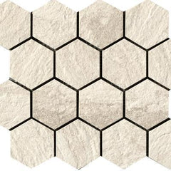 "Paramount Tile Quarzi Barge 11 9/16"" x 10 1/6"" Semi-Polished Hexagon Mosaic"