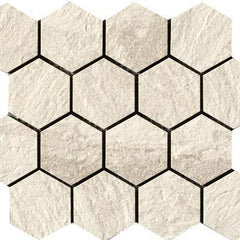 "Paramount Tile Quarzi Barge 11 9/16"" x 10 1/6"" Matte Hexagon Mosaic"