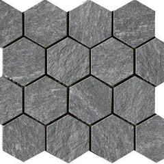"Paramount Tile Quarzi Tirol 11 9/16"" x 10 1/6"" Semi-Polished Hexagon Mosaic"