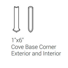 "Interceramic Travertino Royal Noce Cove Base Corner Ext/Int 1""x6"""