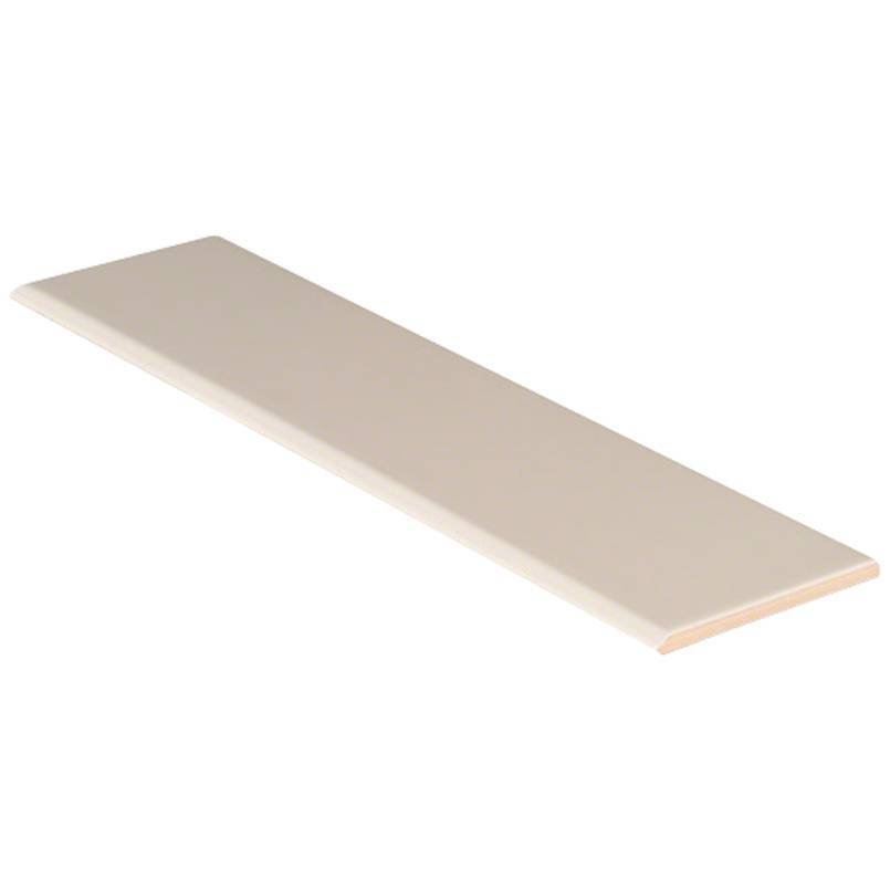 Domino Ceramic Tile Collection Almond Glossy Bull Nose 4x16