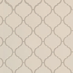 "Domino Porcelain Tile Collection Almond Glossy Arabesque Mosaic- 11""x10.8"" - FloorLife"