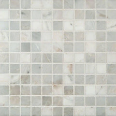 "Marble Tile Collection Arabescato Carrara 1""x1"" In 12""x12"" Mesh - FloorLife"