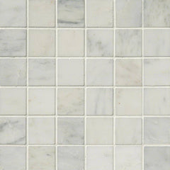 "Marble Tile Collection Arabescato Carrara 2""x2"" In 12""x12"" Mesh - FloorLife"
