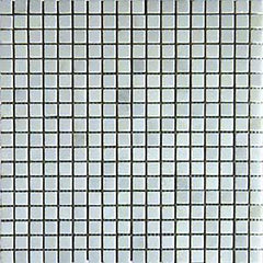 "Marble Tile Collection Arabescato Carrara 5/8""x5/8"" In 12""x12"" Mesh - FloorLife"